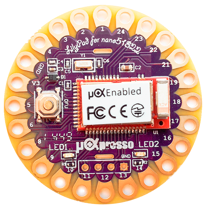 uCXpresso LilyPad for Nano51822