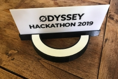 The hackathon 3D-printed prize
